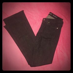 7 for all mankind boot cut jean with pocket detail
